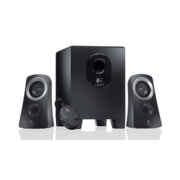 Logitech Z313 Speaker System 2.1 Klinke schwarz