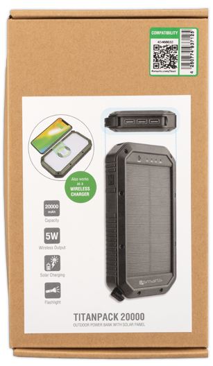 4smarts Solar-Powerbank TitanPack 8000mAh schwarz