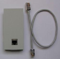 Agfeo LAN-Modul 509 Modulfrontplatte -weiß-