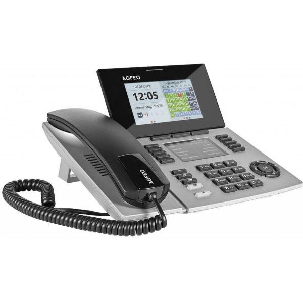 Agfeo Systemtelefon ST56 IP SENSORfon silber