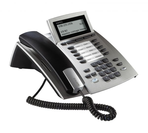 Agfeo ST42 IP Systemtelefon silber