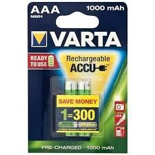 Varta Rechargeable Accu AAA Ready2Use NiMH 1000 mAh Micro (2er Pack)