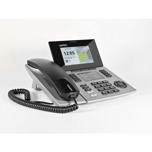 Agfeo Systemtelefon ST56 SENSORfon silber