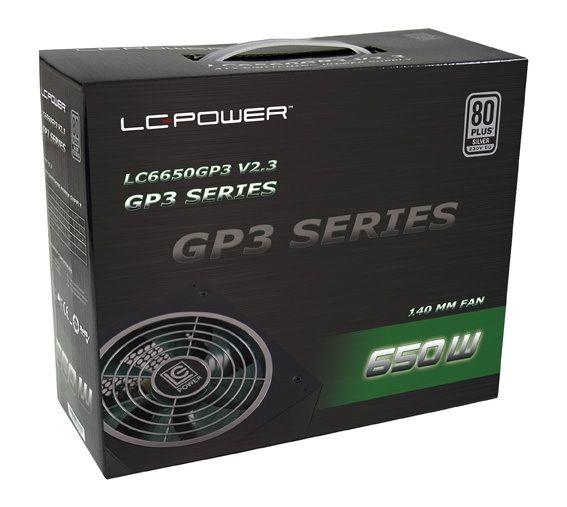 LC Power Netzteil 650Watt LC6650 Green Power3 14cm (80+Silber)