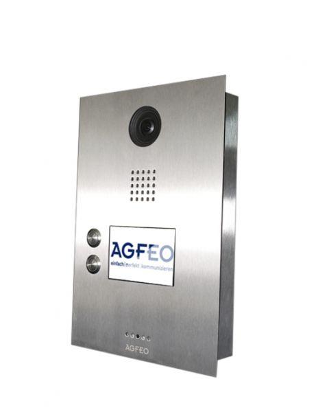 AGFEO IP-Video TFE 2 - Türsprechstelle mit 2 Klingeltastern