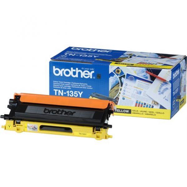 Brother Toner TN-135 Jumbo gelb (ca. 4000 Seiten)